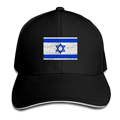 fgjfdjj Baseball Cap Sandwich Cap Vintage Retro Israel Flag Durable Baseball Cap Hats Adjustable Peaked Trucker Cap Vintage-sandwich-cap