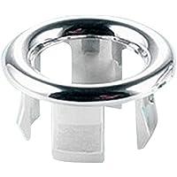 Fregadero redondo anillo de desbordamiento, Woopower drenaje Cap cubierta Insertar en agujero de piezas de repuesto–Repuesto para cocina cromado cuarto de baño lavabo de cerámica