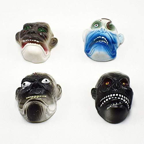 XuBa 4 Teile/satz Kinder Scary Ghost Face Form Fingerpuppe Spielzeug für Geschichten Requisiten (Kinder Scary Ghost Für)
