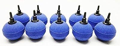 10 blaue Luftausströmer Kugeln Größe 5cm Luftstein Sauerstoffstein Sprudler