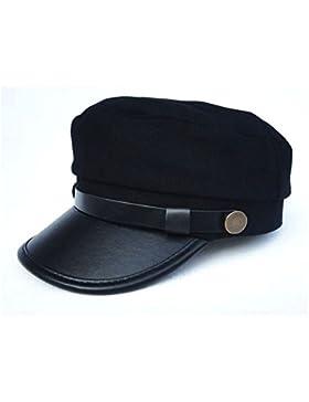 Gorra militar Capitanes estilo Fashion para mujer negro 57cm