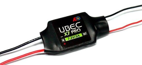 RCECHO® AEO RC Model X7 Pro Input 6-23V Output 7.2V/3A 12g R/C Hobby UBEC BEC AC917 mit RCECHO® Vollversion Apps Ausgabe (C-47 Modell)