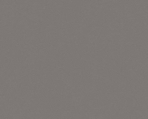 A.S. Création Vliestapete Life Tapete Unitapete 10,05 m x 0,53 m grau metallic Made in Germany 303240 3032-40