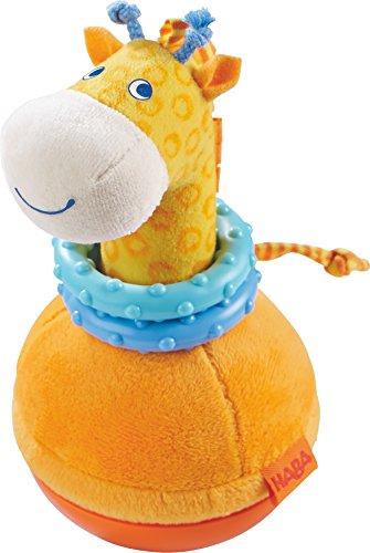 HABA 302571 - Stehauffigur Giraffe, Kleinkindspielzeug