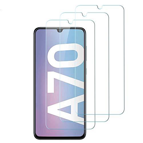hanbee 3-pack pellicola vetro temperato per samsung a70 pellicola protettiva per samsung galaxy a70, 3d copertura completa, hd trasparenza, anti-graffi