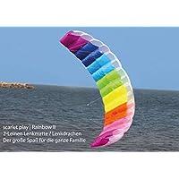 Spielzeug für draußen RHOMBUS Kinderdrachen Lenkdrachen Lenkmatte Zweileiner Drachen Flugdrachen#