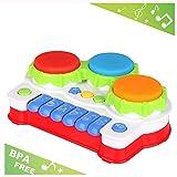 LUKAT Baby Spielzeug für 1 Jahr Alt Kleinkind und 6, 12 Monate Baby, Klavier und Trommel Musik Spielzeuge