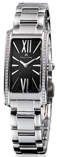 Maurice Lacroix Maurice Lacroix Negro Dial Acero inoxidable Acero Diamante Damas Reloj
