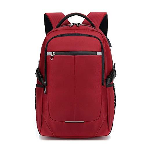 (Party Girls S Bergsteiger-Rucksack Business-Laptop-Rucksack mit USB-Port Reiserucksack wasserdichter Computer-Rucksack Unisex (Farbe : Red))