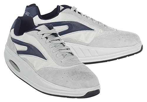 Fitness Step Casual Training - Zapatillas tonificadoras para Hombre, Color Gris/Azul, Talla 44