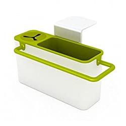 Self Draining Sink Tidy with suction cup Organizer Sponge, Brush Holder