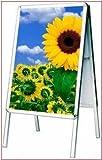 A1 Alu Kundenstopper Aufsteller Strassenstaender Werbeaufsteller Werbetafel Werbestaender Boardmaße 121 x 64 cm / Bildmaße 60 x 84 cm doppelseitig