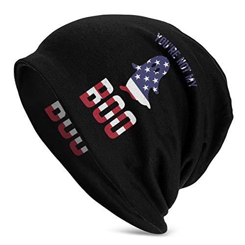 Men Women Boo Ghost American Flag Beanie Cap Helmet Liner Great for Sports Design 7657 -
