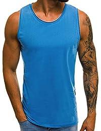 ead8e0f9307b0d OZONEE Mix Herren Tanktop Basic Unifarben Tank Top Tankshirt T-Shirt  Unterhemden Ärmellos Muskelshirt Sport O…