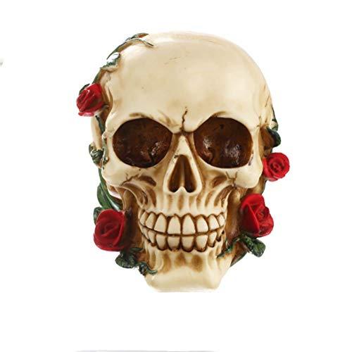 Handwerk Rose Schädel Handwerk Persönlichkeit Dekoration Büro Dekorationen Halloween Geschenke ()