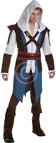 onlyglobal Herren Verkleidung Kostümparty Assassins Creed Edward Kenway -