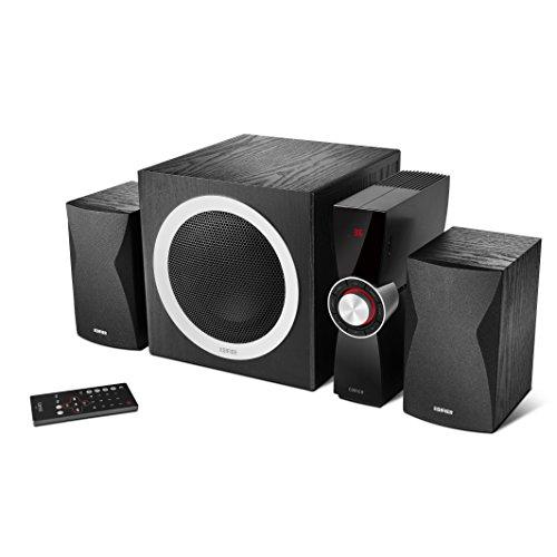 edifier pc lautsprecher Edifier C3X 2.1 Lautsprechersystem (65 Watt) mit Infrarot-Fernbedienung, Audio-Wiedergabe von USB und SD-Karte schwarz