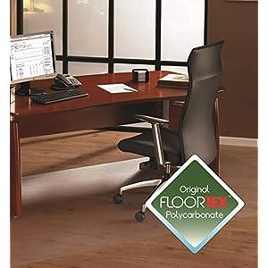 Floortex Bodenschutzmatte   Bürostuhlunterlage ultimat   150 x 300 cm   aus Original Polycarbonat   transparent   rechteckig   TÜV Zertifiziert   für Harte Böden