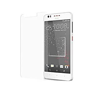 SNOOGG PACK OF 6 HTC Desire 825 Smart Phone, Golden Graphite Clear Screen Guard Toughened Glass