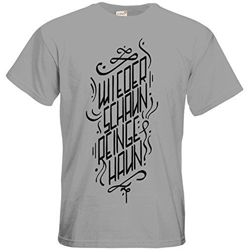 getshirts - Rocket Beans TV Official Merchandising - T-Shirt - Wiederschaun reingehaun pacific grey