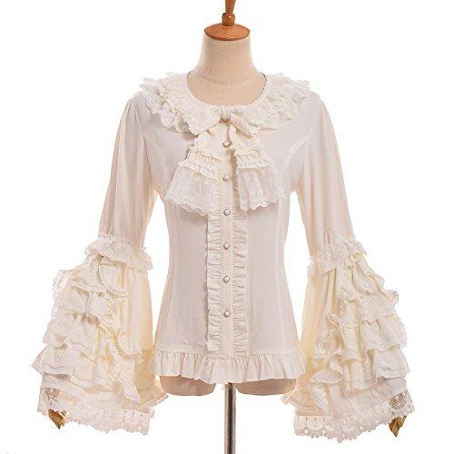 GRACEART Viktorianisch Glocke Hülse Rüsche Bluse (Medium) (Bluse Viktorianische Rüschen)