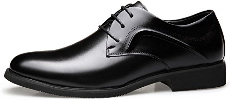 OEMPD Hombres Negocios Cuero Genuino Zapatos Consejos Moda Casual -