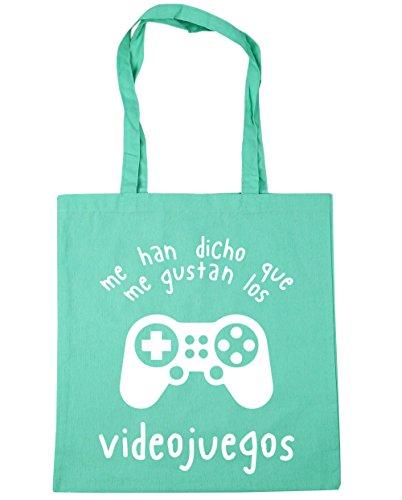 HippoWarehouse Me Han Dicho Que Me Gustan Los Videojuegos Bolso de Playa Bolsa Compra Con Asas para gimnasio 42cm x 38cm 10 litros capacidad