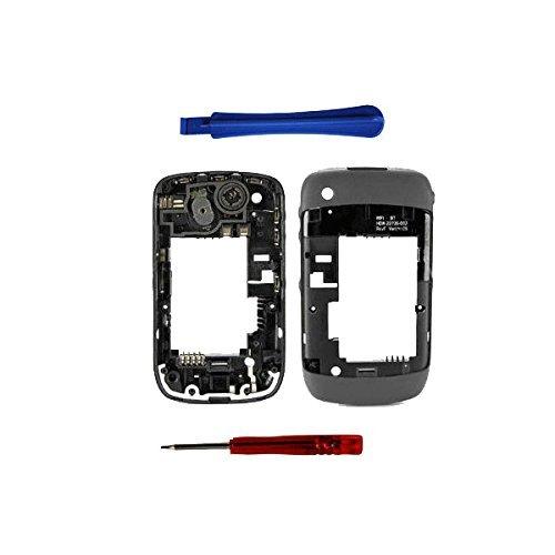 BisLinks® Grau midplate für Blackberry Curve 8520 + Chassis / Mittlerer Frame / Gehäuse (Blackberry 8520 Gehäuse)