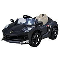 This Lamborghini Style Ride on Car features a powerful 12V motor and it is available in yellow, black and red. It features headlights and music giving it a realistic touch. It has a maximum weight of 30kg. Comes with MP3 and remote control- buy today...