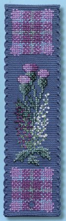 Textile Heritage Collection Cross Stitch Bookmark Kit - Flowers of