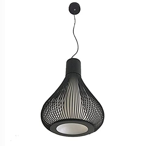 YJH Chandelier Gourd Type Iron Chandeliers Wire Lights Bird Cage Lights Living Room Bedroom Study Lights Cafe Leisure Venues Special Lights LOVE ( Color : Black )