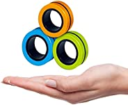 3PCs Finger Magnetic Ring | Magnetic Bracelet Ring Unzip Colorful Toy | Magnetic Rings Fidget Toy | Magical Ri