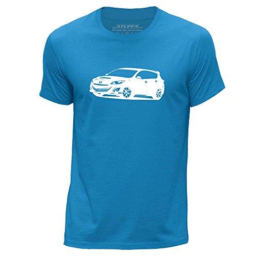 STUFF4 Uomo Girocollo T-Shirt/Plantilla Coche Arte / 3 MPS Blu