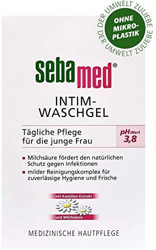 sebamed Intim-Waschgel, für Frauen mit dem pH-Wert 3.8, sanfte Reinigung des Intimbereichs, mit Kamillenextrakt und Milchsäure, fördert den natürlichen Schutz gegen Infektionserreger, Inhalt 200ml