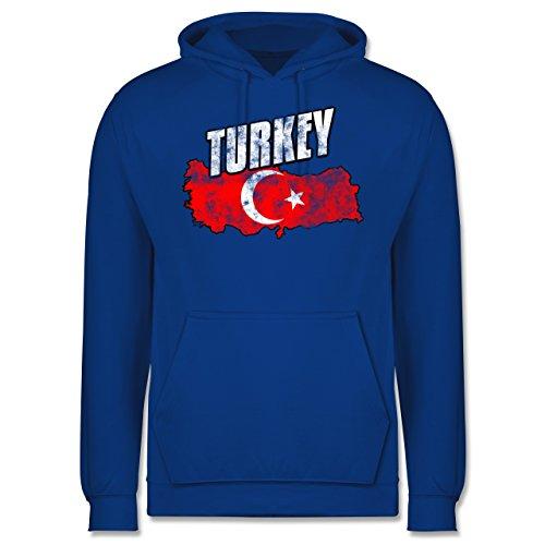 Länder - Turkey Umriss Vintage - Männer Premium Kapuzenpullover / Hoodie Royalblau