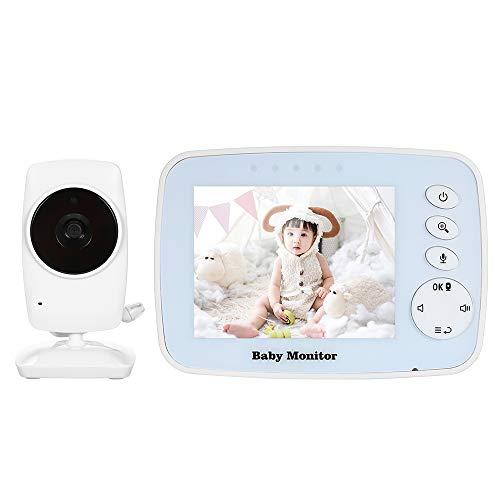 Decdeal 3.2 Pulgadas Monitor Inalámbrico de Vídeo para Bebé con 7 Canciones de Cuna Vigilabebés...