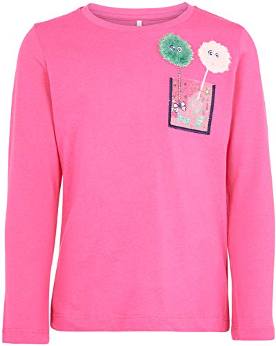 NAME IT Mädchen Langarmshirt nmfNALIMA (92, Fuchsia Purple) -