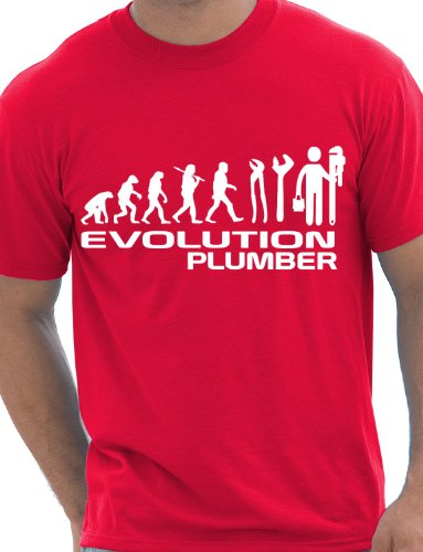 evolution-de-plombier-plomberie-t-shirt-pour-homme-taille-s-xxl-rouge-x-large