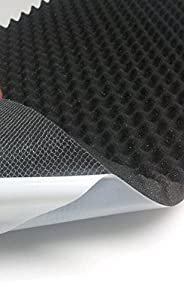 Akustikschaumstoff, Noppenschaumstoff, Selbstklebend Profilplatte, Dämmung 100cm x 50cm x (variant)) (100 x 50 x 5, Weiss)