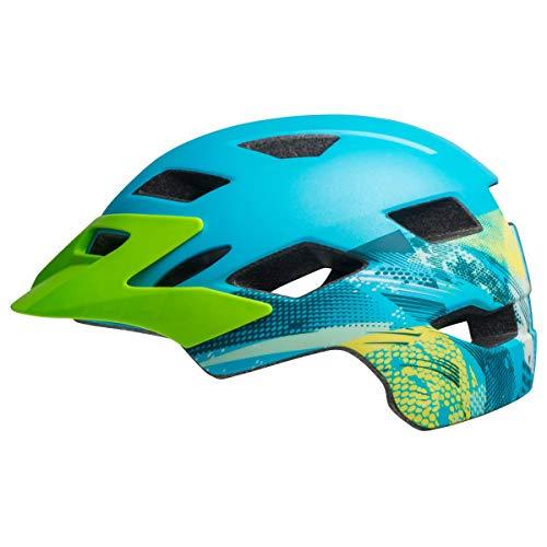 Bell Unisex Jugend SIDETRACK Youth Fahrradhelm, Gnarly mat Blue/bt Green, Unisize Bt Bell