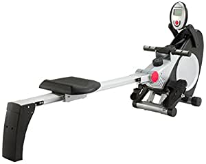 Marcy Foldable Magnetic Rower with Hand Pulse - One Size, Silver/Black
