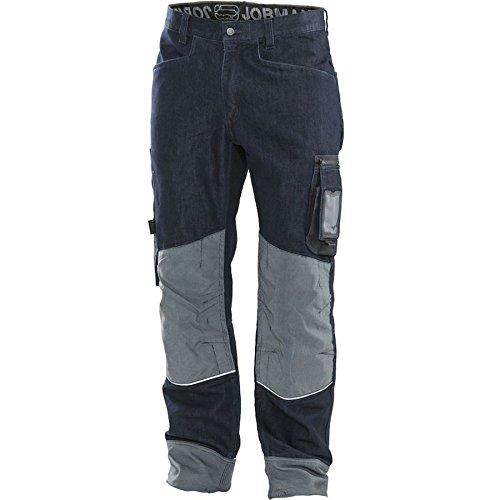 Jobman Handwerker Hose, 1 Stück, D088, denim blau / schwarz, 299125-9900-D088