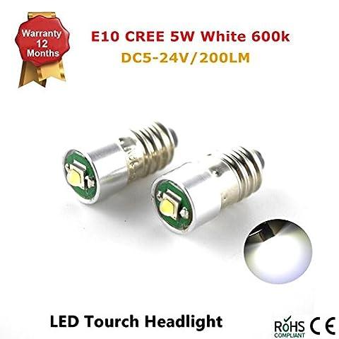 Conversion/mise à niveau E10CREE ampoule LED Petzl lampe frontale lampe