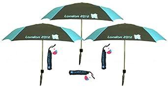 3x London Olympic 2012 Black Compact Folding Umbrella