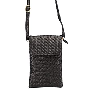 Cell Phone Bag, Asnlove 5.5 inch Universal PU Leather Strap Mini Cross Body Bag Shoulder Bag Tote Pouch Bag with Adjustable Shoulder Strap for Apple iPhone X / 8 / 7 Plus / 6s