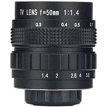 wd5014 m CCTV 50 mm f/1.4 C Mount C de Mount TV Camera Lens, Negro