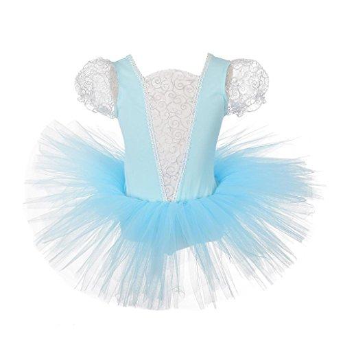 Kostüm Cinderella Ballett - Lito Angels Mädchen Prinzessin Cinderella Kostüme Ballett Tütü Tanzbekleidung Verrücktes Kleid 4-5 Jahre Blau