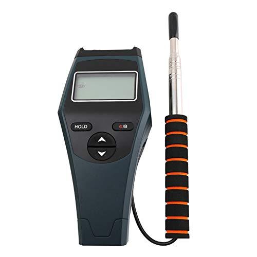 HJEDV Draht Anemometer Wind Geschwindigkeit Temperatur Messung Tragbare & Intelligen Einstellbare Sonde Gauge Automatische Fehler Reporting -