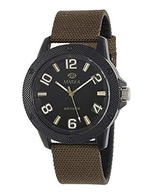 Reloj Marea Analógico Hombre B35291/3 Correa Nylon Marrón Oscuro y Caja Negra