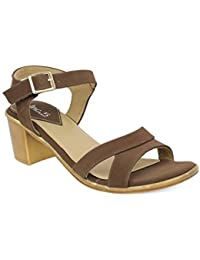 Inc.5 Women's Brown Fashion Sandals-4 UK/India (37 EU) (570)